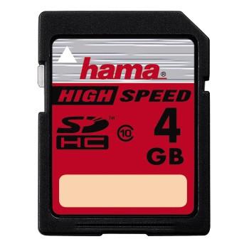 Hama SDHC-Karte 4GB Class 10