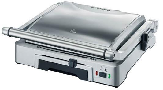 Severin KG 2392 Kontaktgrill Tisch Elektro 1800W Edelstahl Barbecue &amp, Grill
