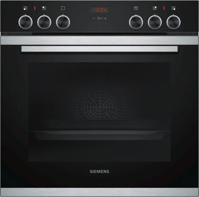 Siemens iQ300 HE213ABS0 Einbau-Herd Schwarz, Edelstahl Elektrischer Ofen 71l A Backofen