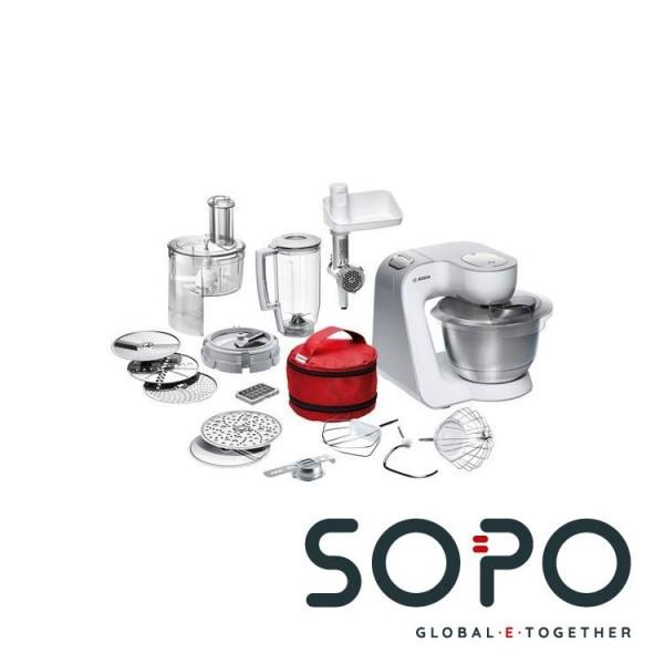 Bosch MUM54270DE 900W 3.9l Silber, Weiß Küchenmaschine