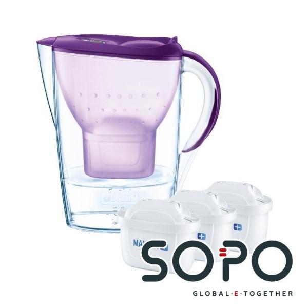 Brita Wasserfilter Marella Purpur Basic Inkl 3mxplus Purple