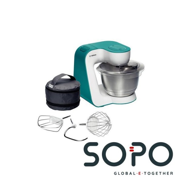 Bosch MUM54D00 900W 3.9l Edelstahl, Weiß Küchenmaschine