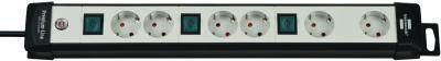 Brennenstuhl Premium-Line 6fach, 3m H05VV-F3G1,5 je 2fach schaltbar