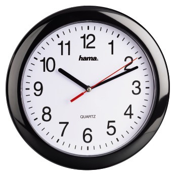 Hama PP-250 Quartz wall clock Kreis Schwarz