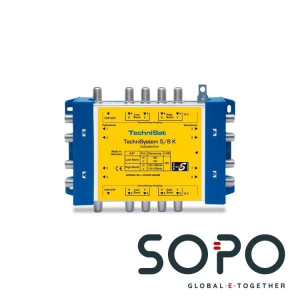 TechniSat TechniSystem 5-8 K Grau, Gelb Kabelschnittstellen--adapter
