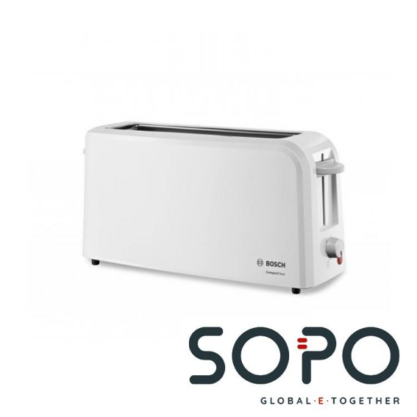 Bosch TAT3A001 2Scheibe(n) 980W Weiß Toaster