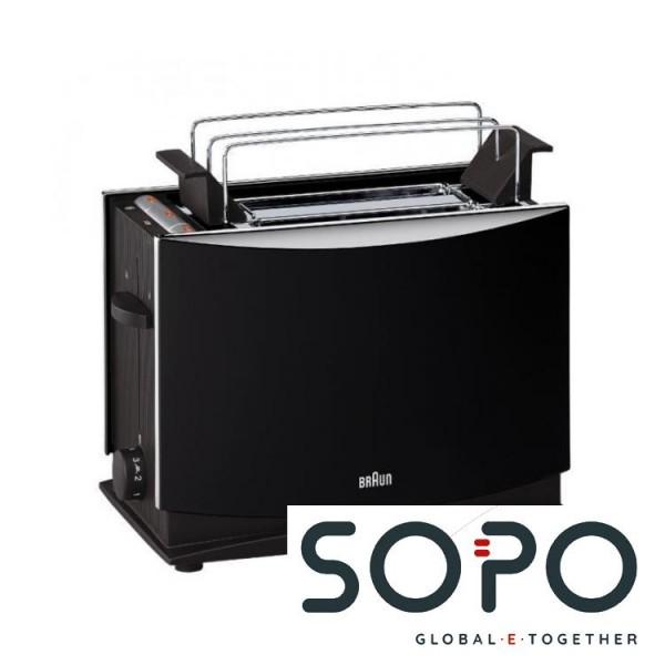 Braun Multi Toast HT450 2Scheibe(n) 1000, -W Schwarz Toaster