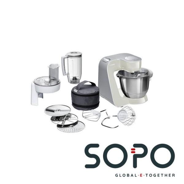 Bosch MUM58L20 1000W 3.9l Grau, Edelstahl, Weiß Küchenmaschine