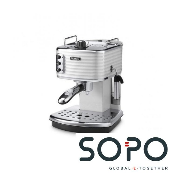 DeLonghi Scultura ECZ 351.W Freistehend Manuell Espressomaschine 1.4l Chrom, Grau