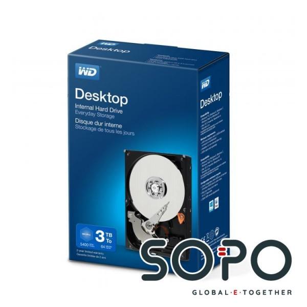 Western Digital Desktop Everyday 3000GB Serial ATA III Interne Festplatte