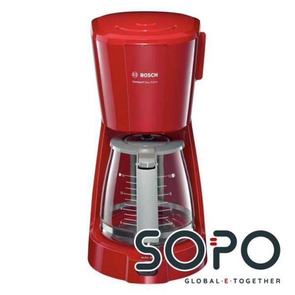 Bosch TKA3A034 Freistehend Filterkaffeemaschine 1.25l 10Tassen Grau, Rot Kaffeemaschine