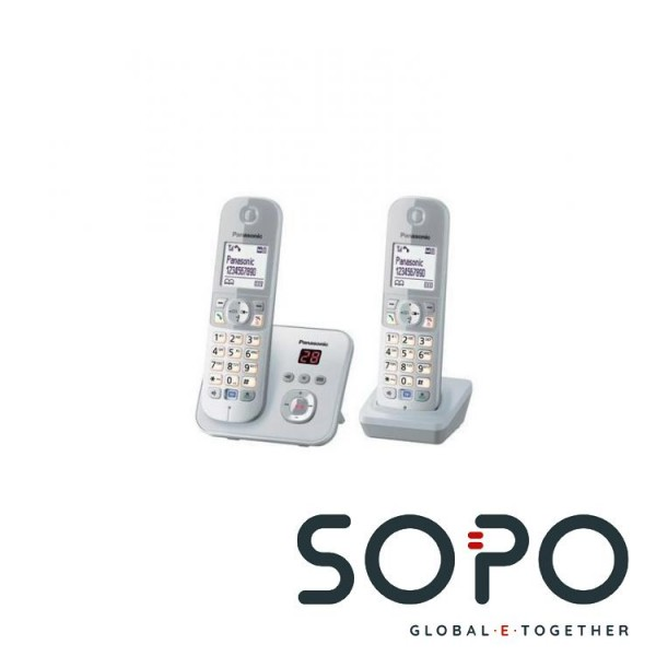 Kx Silber Anrufer Dect Tg6822 Panasonic Identifikation eodCrxBW
