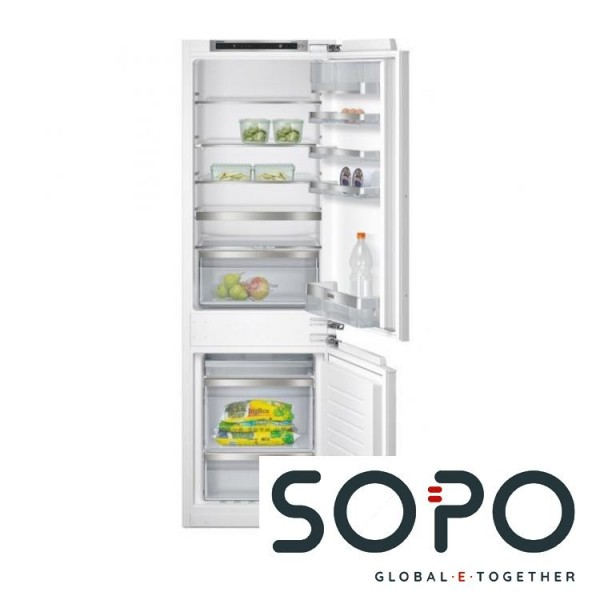 Siemens Einbaukühlschrank, KI86NAD30, coolEfficiency Flachscharnier-Technik