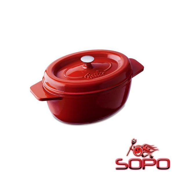 Fissler Arcana Oval, 34cm Single pan Cocotte Bräter rot