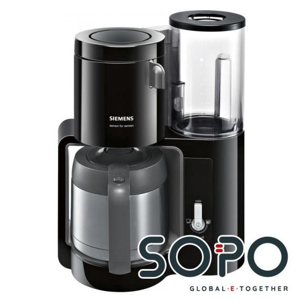 Siemens TC80503 Freistehend Filterkaffeemaschine 1.15l 8Tassen Anthrazit, Schwarz Kaffeemaschine