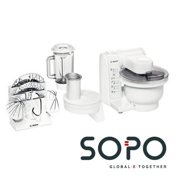 Bosch MUM4830 600W 1l Edelstahl, Weiß Küchenmaschine