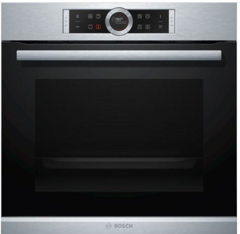 Bosch Serie 8 HBG672BS1 Elektrischer Ofen 71l 3650W A+ Edelstahl Einbau-Backofen