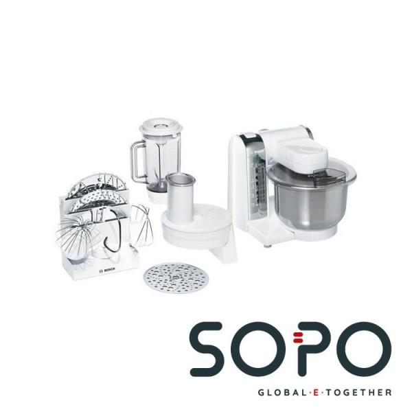 Bosch MUM48CR1 600W 3.9l Edelstahl, Weiß Küchenmaschine
